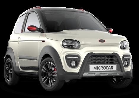 Microcar MGO6 X Pearl met een beetje rood